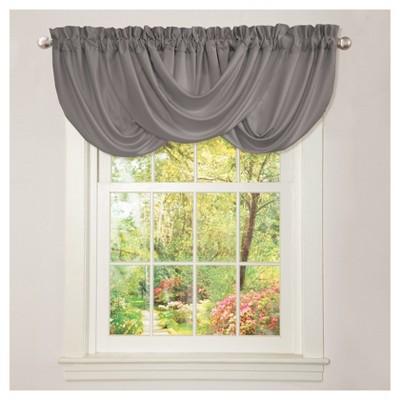 Lucia Window Valance Gray (18 x42 )- Lush Décor