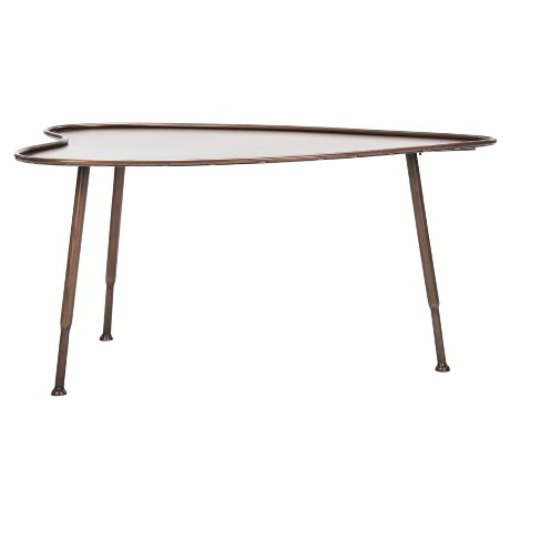 Tessa Heart Coffee Table - Antique Copper - Safavieh® - image 1 of 4