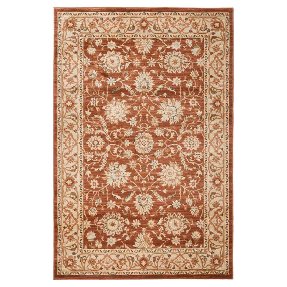 Florenteen Area Rug - Rust/Ivory (Red/Ivory) (5'3