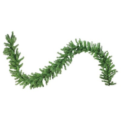 "Northlight 9' x 12"" Unlit Canadian Pine 2-Tone Artificial Christmas Garland"