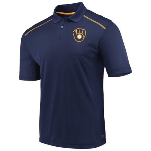 MLB Milwaukee Brewers Men's Fan Engagement Polo Shirt - image 1 of 3