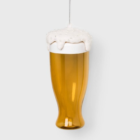 Glass of Frothing Beer Glass Christmas Ornament - Wondershop™ - image 1 of 2