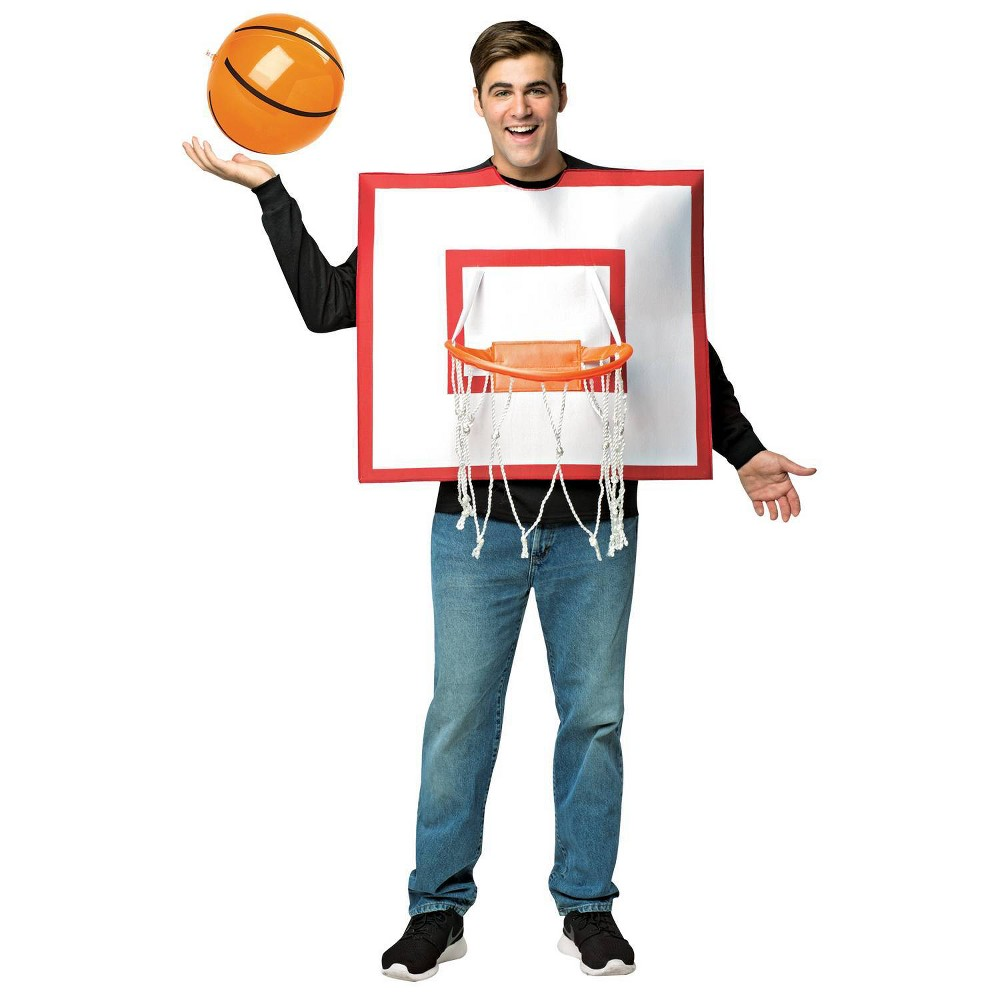 Image of Halloween Adult Basketball Hoop Halloween Costume One Size, Adult Unisex, MultiColored