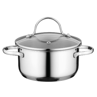 "BergHOFF Comfort 6.25"" 18/10 Covered Casserole Stainless Steel"