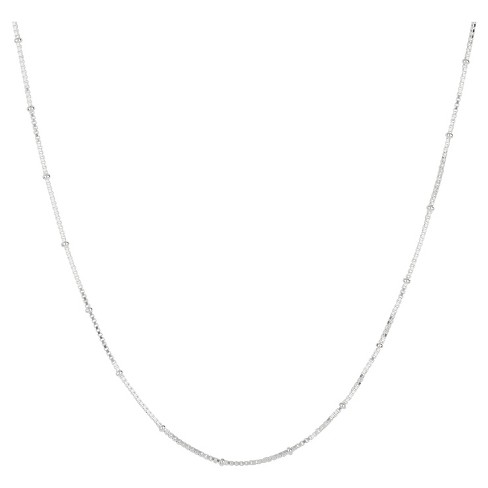 "Box Chain Necklace with Crimp Beads in Sterling Silver - 16"" - image 1 of 1"