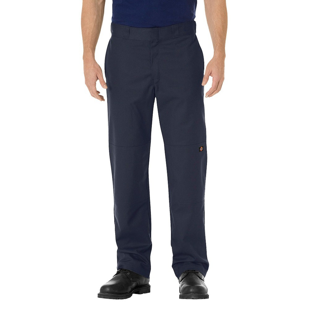 Dickies Men's Regular Straight Fit Flex Twill Double Knee Work Pants- Dark Navy 30x32