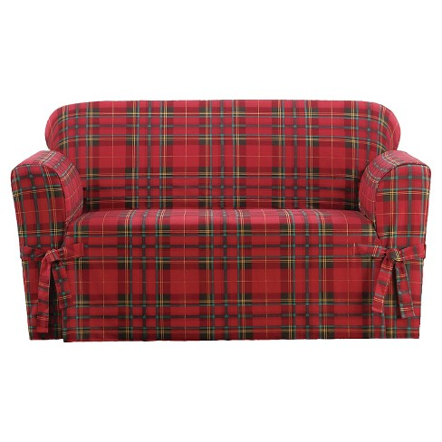 Highland Plaid Loveseat - Sure Fit - image 1 of 2