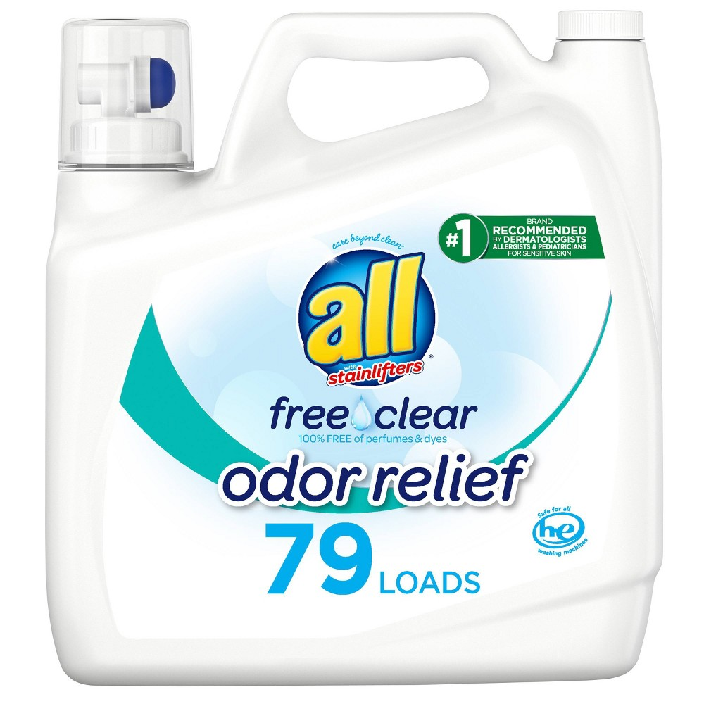 All Ultra Free Clear Odor Relief He Liquid Laundry Detergent 141oz