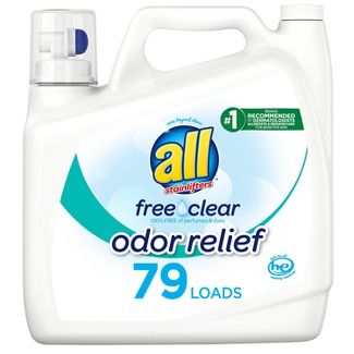 All Ultra Free Clear Odor Relief HE Liquid Laundry Detergent - 141oz