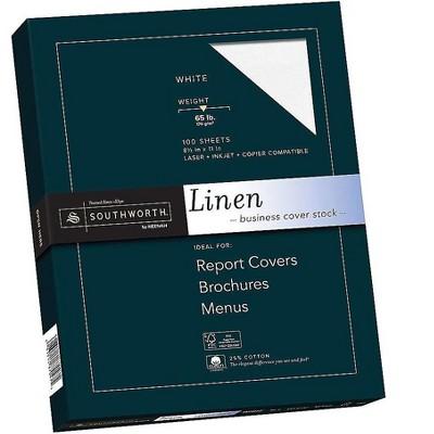 "Southworth 8.5""W x 11""L Cover Paper 65 lbs. Linen Finish 666126"