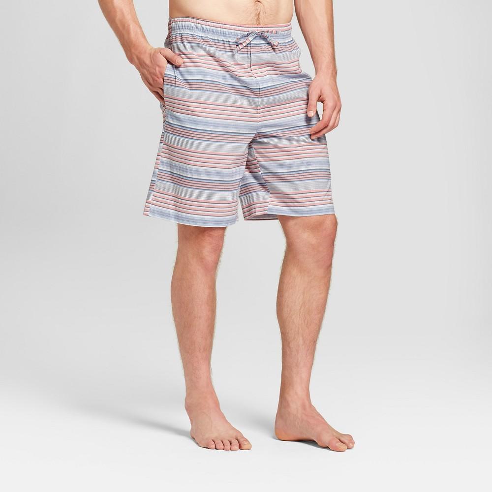 Men's Striped Woven Pajama Shorts - Goodfellow & Co Georgia Peach M