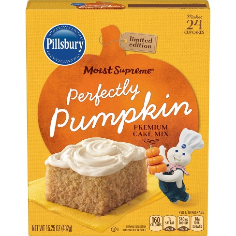 Pillsbury Moist Supreme Perfectly Pumpkin Premium Cake Mix, 15.25oz - image 1 of 4