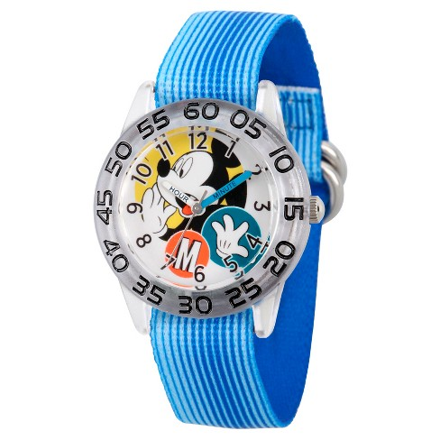 Boys' Disney Mickey Mouse Watch - Blue - image 1 of 2