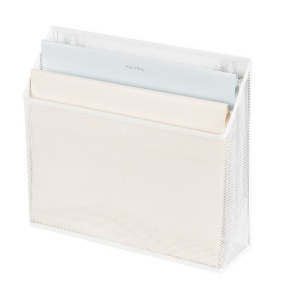 Mesh Hanging File Sorter with Keyholes White - Made By Design™