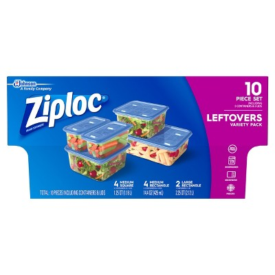 Ziploc Leftovers Variety Pack Containers - 5ct