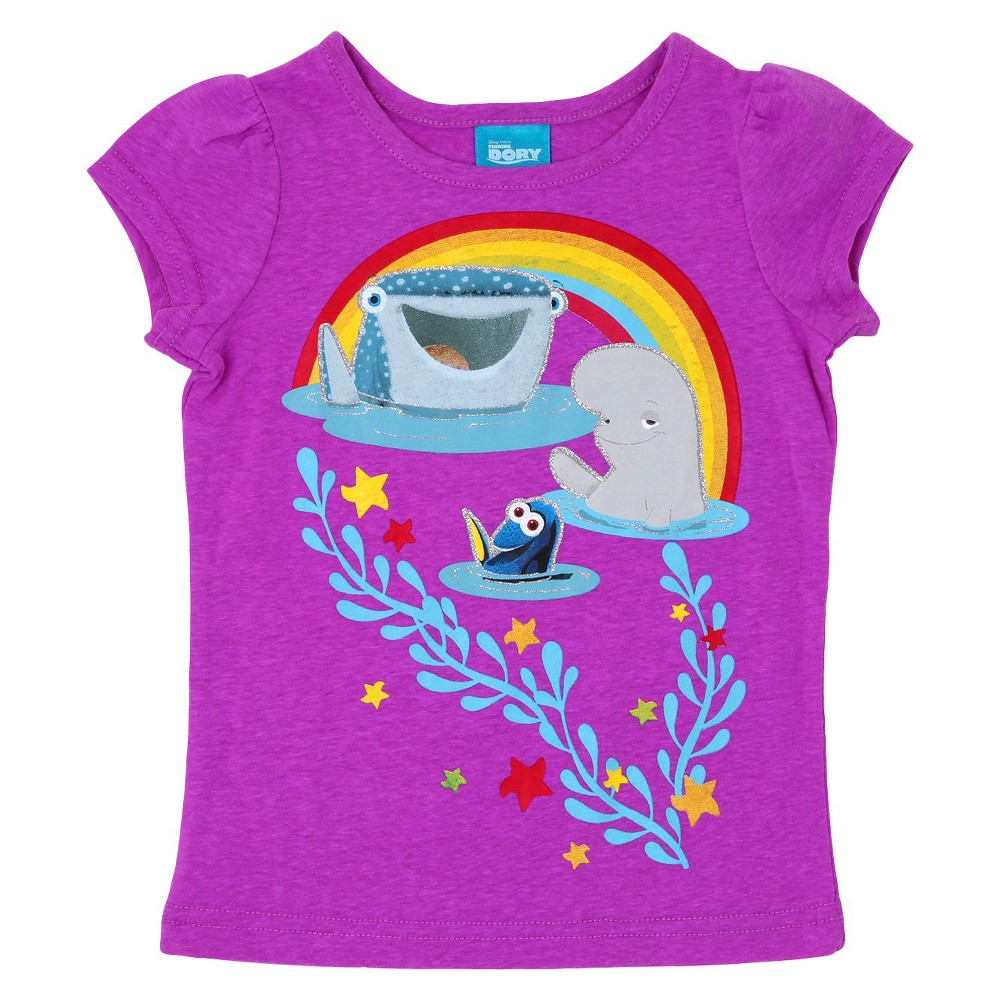 Toddler Girls' Finding Dory T-Shirt Purple 4T