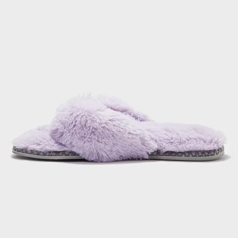 c469f16b4162 Women s Dearfoams Thong Slippers - Purple S   Target