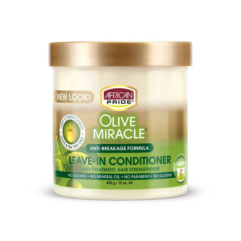 Image of African Pride Olive Miracle Anti-Breakage Leave -In Conditioner CRèME - 15oz