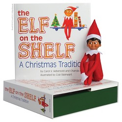 The Elf on the Shelf: A Christmas Tradition with Dark Skin Tone Boy Scout Elf
