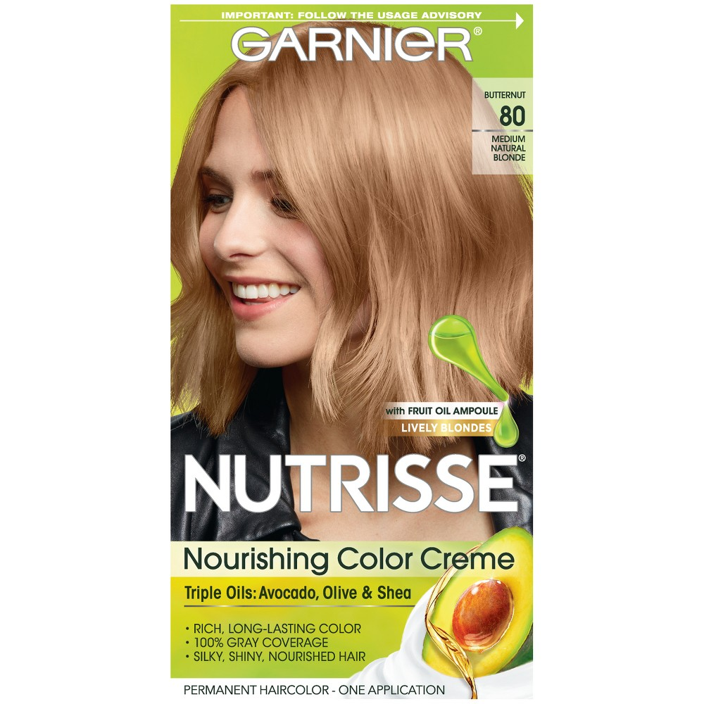 Garnier Nutrisse Nourishing Color Creme 80 Medium Natural Blonde