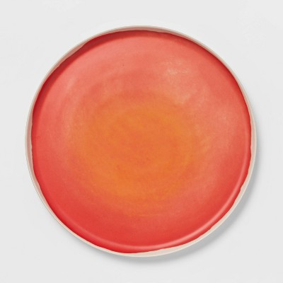 "10.5"" Bamboo Melamine Dinner Plate Orange - Opalhouse™"