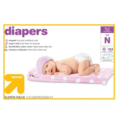 Diapers Super Pack Size Newborn - 124ct - Up&Up™