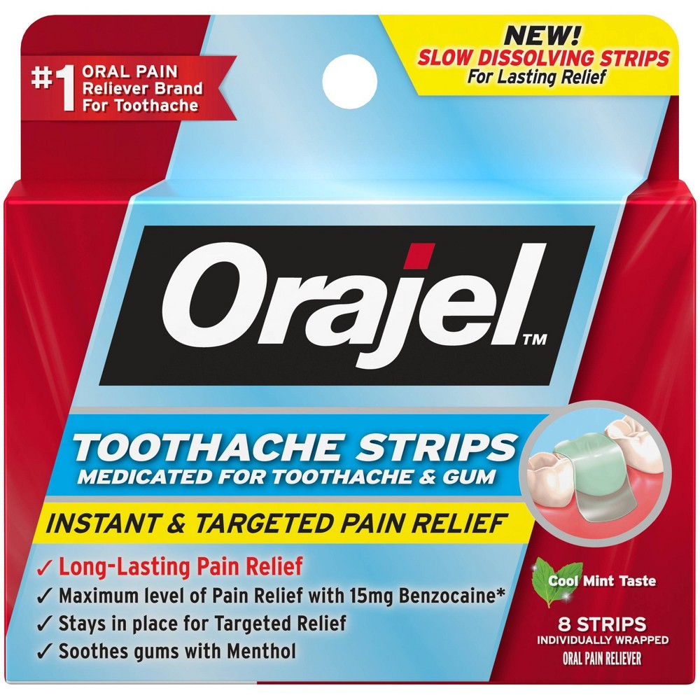 Image of Orajel Toothache Strips - 8ct