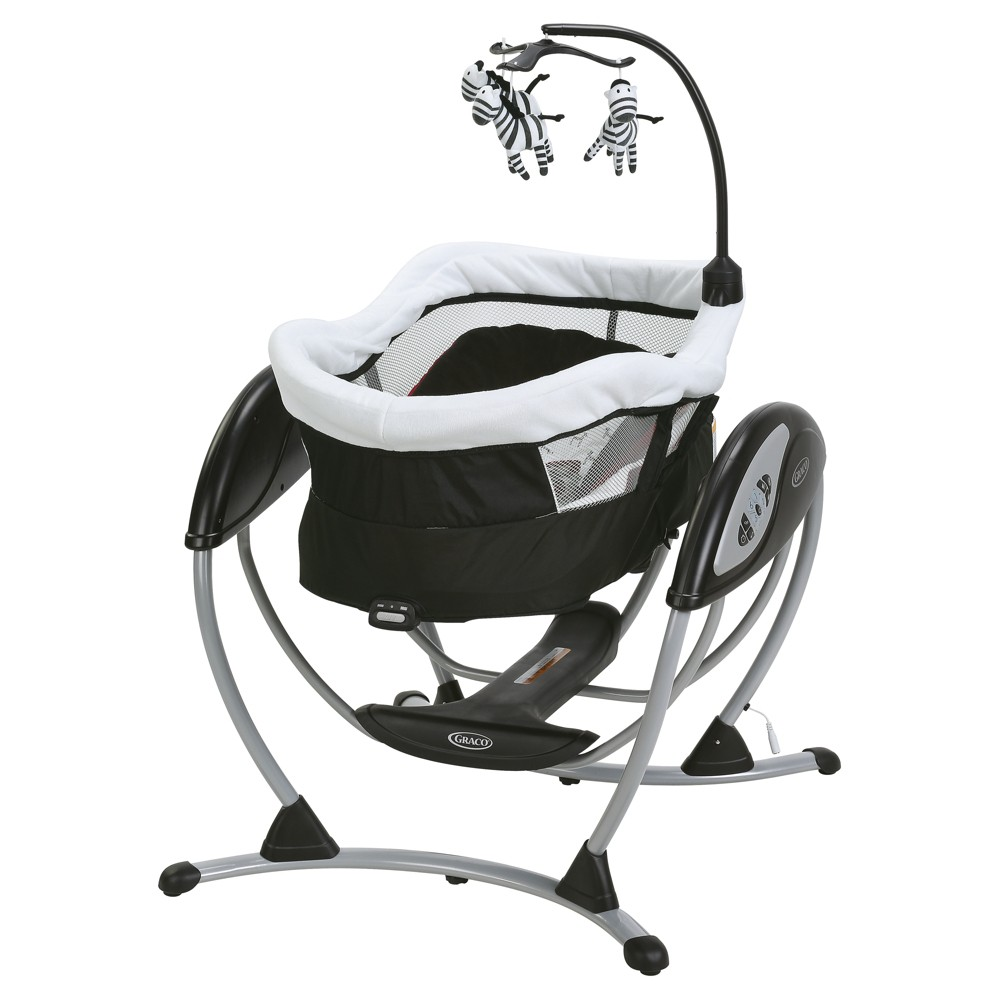 Graco DreamGlider Gliding Swing and Sleeper Baby Swing - Zink
