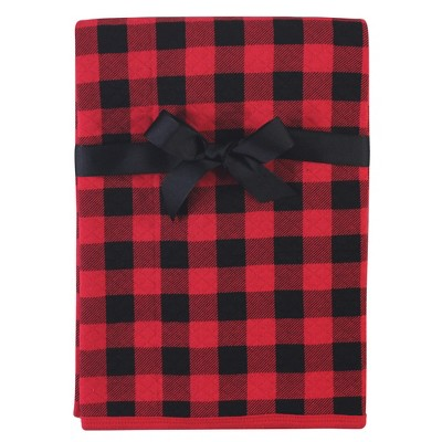 Hudson Baby Infant Boy Quilted Multi-Purpose Swaddle, Receiving, Stroller Blanket, Buffalo Plaid 1-Pack, One Size