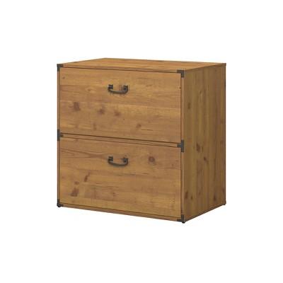 Kathy Ireland Office 2 Drawer Ironworks File Cabinet Cherry - Bush Furniture