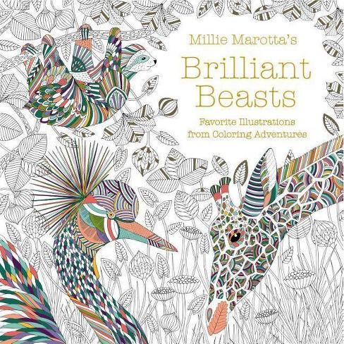 Millie Marotta's Brilliant Beasts - (Millie Marotta Adult Coloring Book) (Paperback) - image 1 of 1