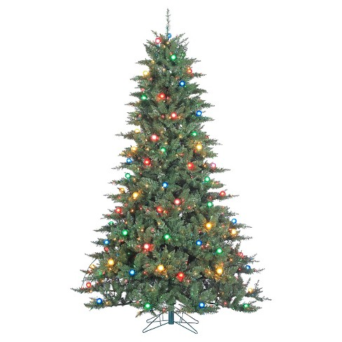 About this item - 7.5ft Pre-Lit Artificial Christmas Tree Reno Pine... : Target