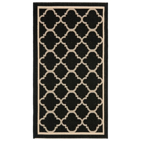 Renee Patio Rug - Black / Beige - Safavieh® - image 1 of 1