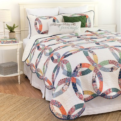 C&F Home Heritage Wedding Ring Quilt Set