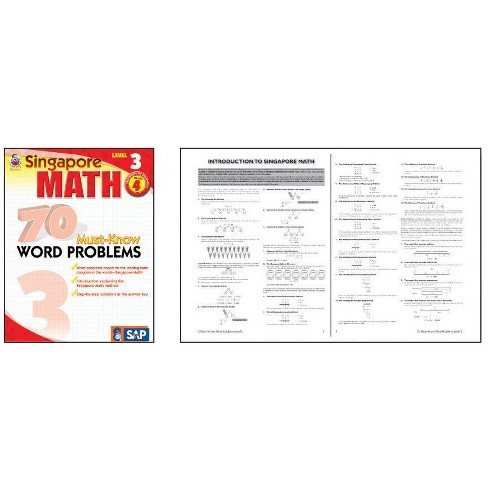 Singapore Math Must-Know Word Problems, Grades 1 - 2