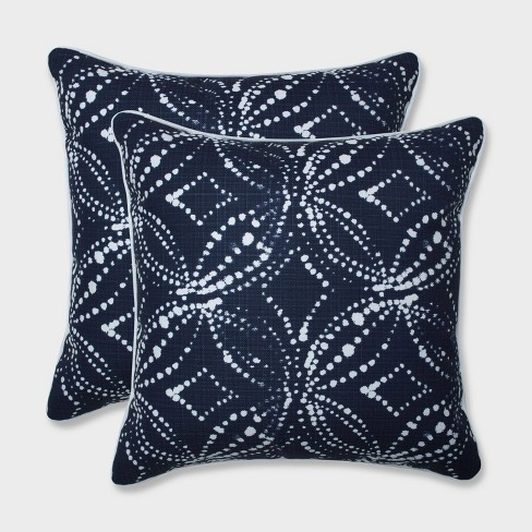 "18.5"" 2pk Gerardo Italian Denim Throw Pillows Blue - Pillow Perfect - image 1 of 3"