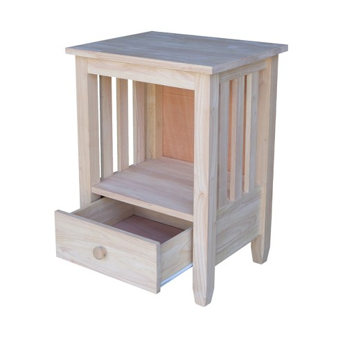 Mission Tall End Table With Drawer International Concepts Target