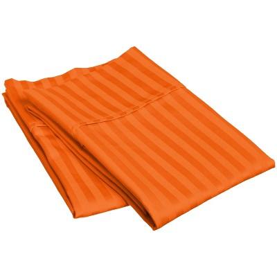Lightweight Stripe Microfiber Wrinkle-Resistant Standard 2-Piece Pillowcase Set, Orange - Blue Nile Mills