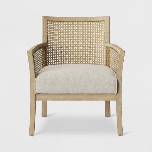 Laconia Caned Accent Chair Beige - Threshold™ - image 1 of 6