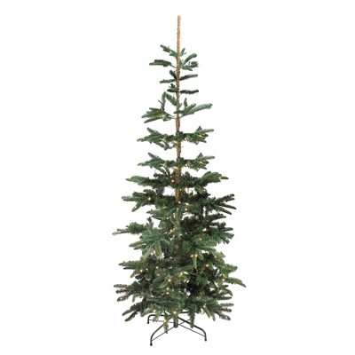 Northlight 9' Prelit Artificial Christmas Tree Slim Layered Noble Fir - Warm Clear LED Lights