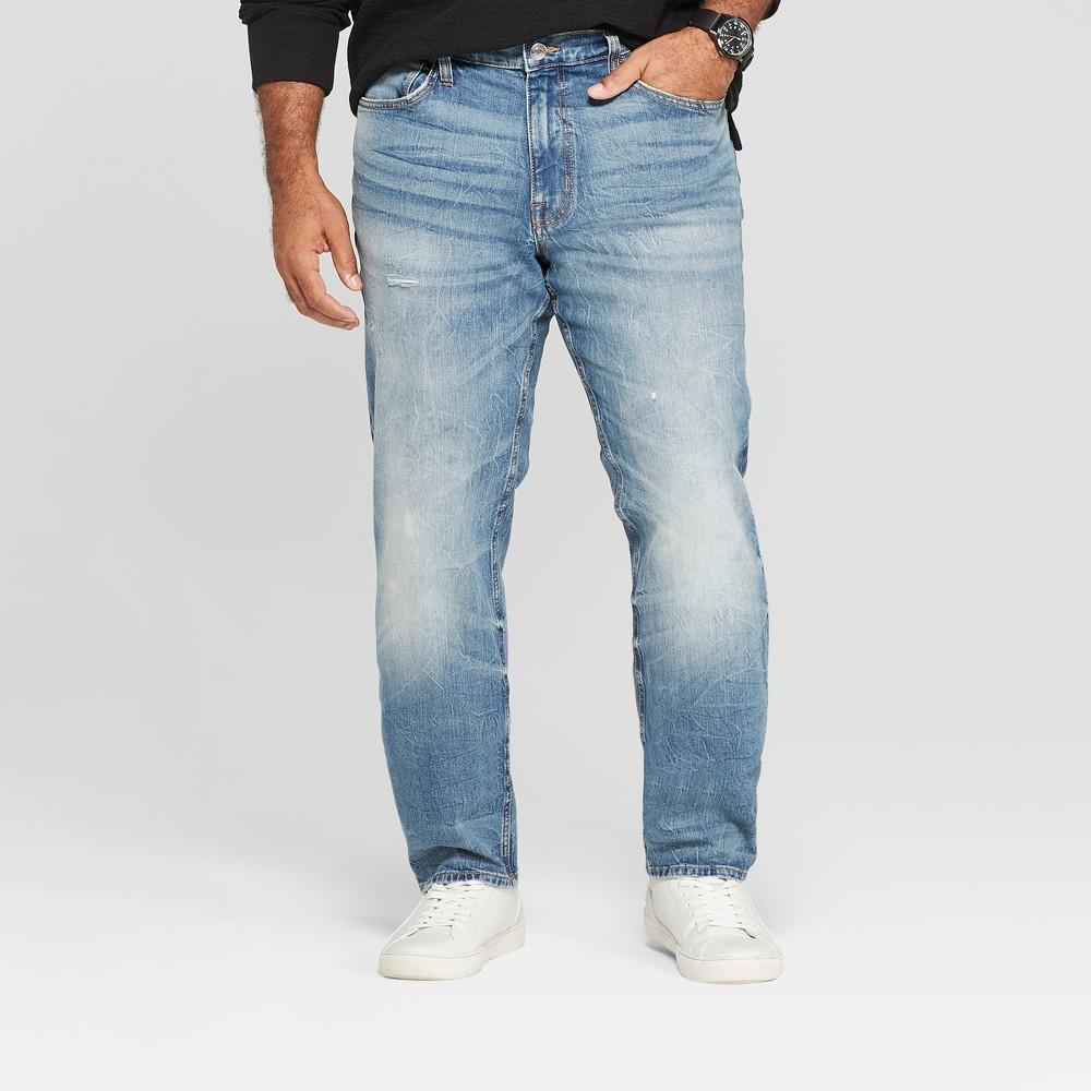 Men's Tall Skinny Fit Jeans - Goodfellow & Co Medium Vintage 33x36, Blue