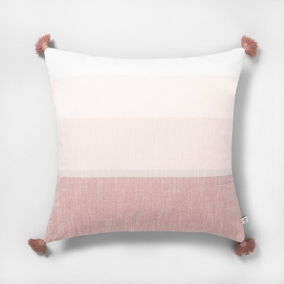 Tassel Throw Pillow Stripe Rose Gold - Hearth & Hand™ with Magnolia