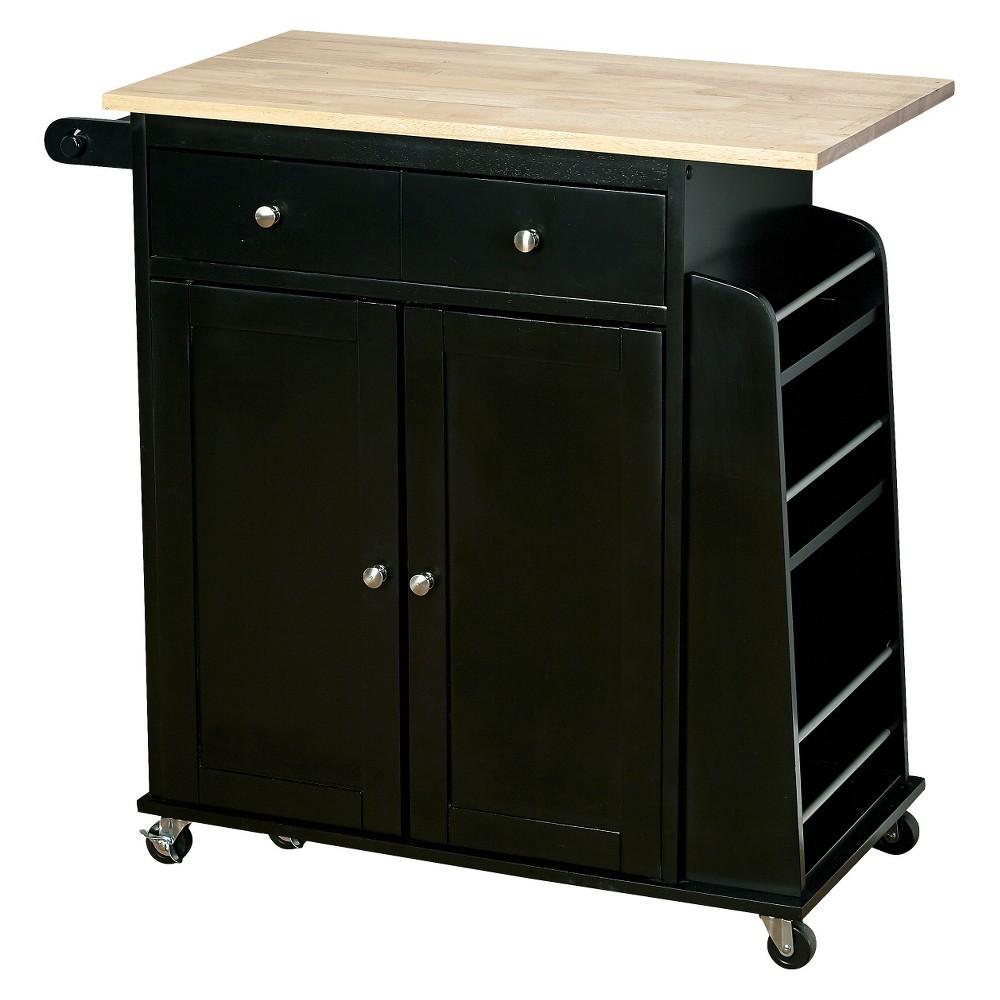 Tms Michigan Kitchen Cart - Black