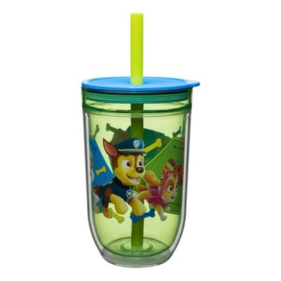 PAW Patrol 13oz Tumbler With Lid And Straw Green/Blue - Zak Designs