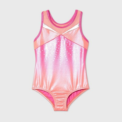 Toddler Girls' Ombre Gymnastics Leotard - More Than Magic™ Orange/Pink