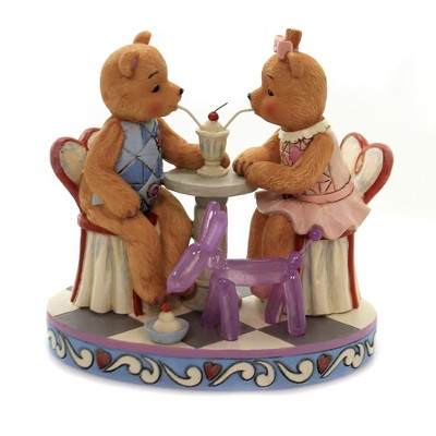 "Jim Shore 5.5"" Sharing Sweet Times Button & Squeaky  -  Decorative Figurines"