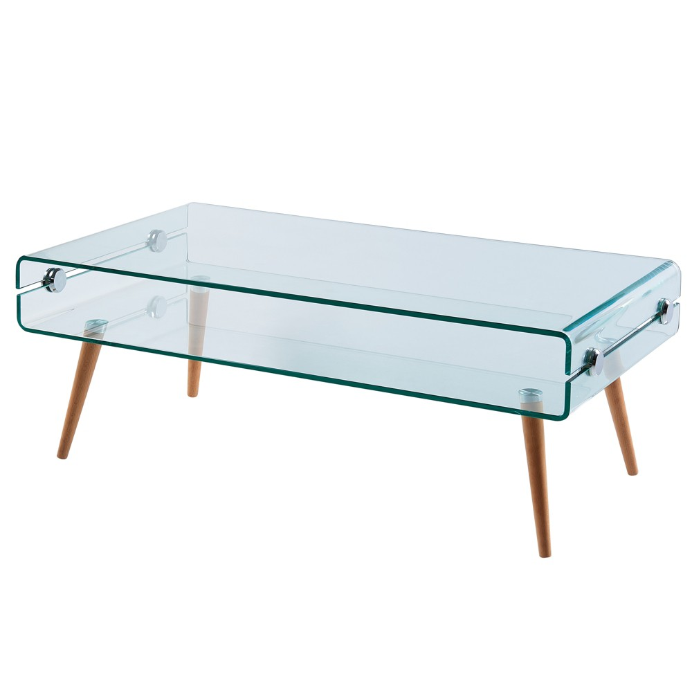 Cassetto Glass coffee table - Versanora, Clear