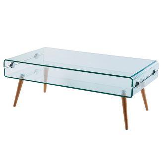 Cassetto Glass coffee table - Versanora