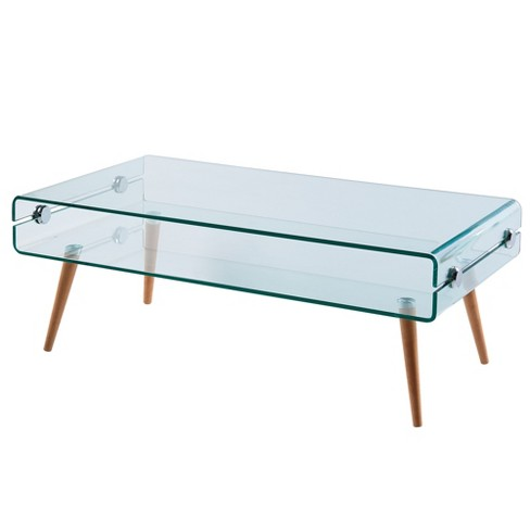 Cassetto Glass coffee table - Versanora - image 1 of 4