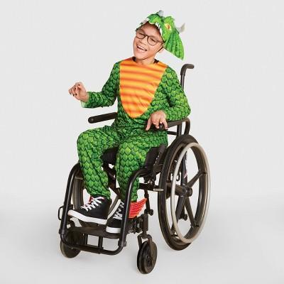 Kids' Adaptive Dragon Halloween Costume Jumpsuit with Headpiece - Hyde & EEK! Boutique™